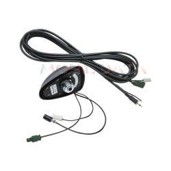 Cápauszony (Shark II) hátsó erősítős tető antenna AM/FM rádió és analóg és digitális földi TV vételére15.7727080