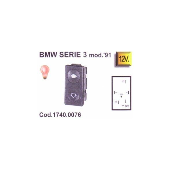 1740.0076 BMW3 ablakemelő kapcsoló (piros)