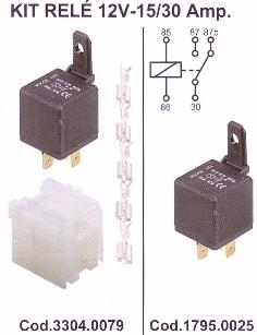 Relé 30/20A 12V (5 sarus)  Kód: 1795.0025