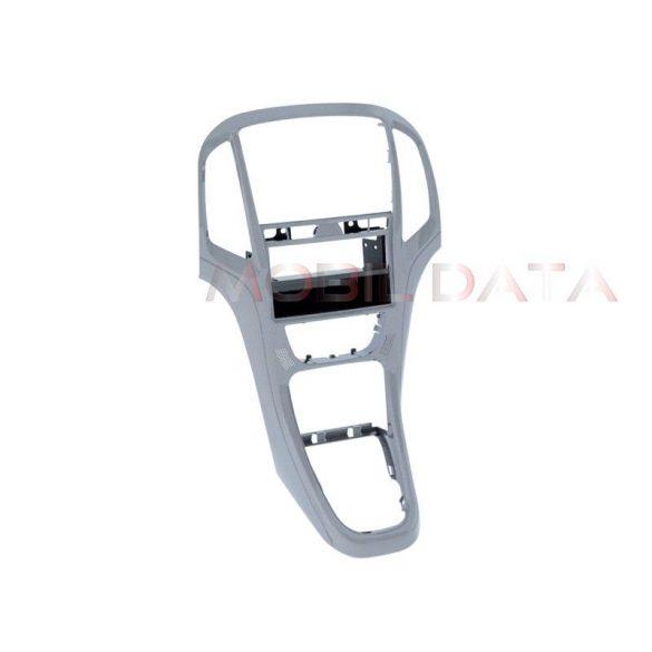 Opel Astra J 2009-> dupla DIN rádió keret fiókkal ezüst szín 281230-23-3