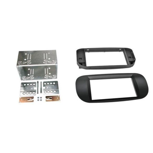 Fiat 500 2007-> 2 DIN autórádió beszerelő keret fekete 381094-22