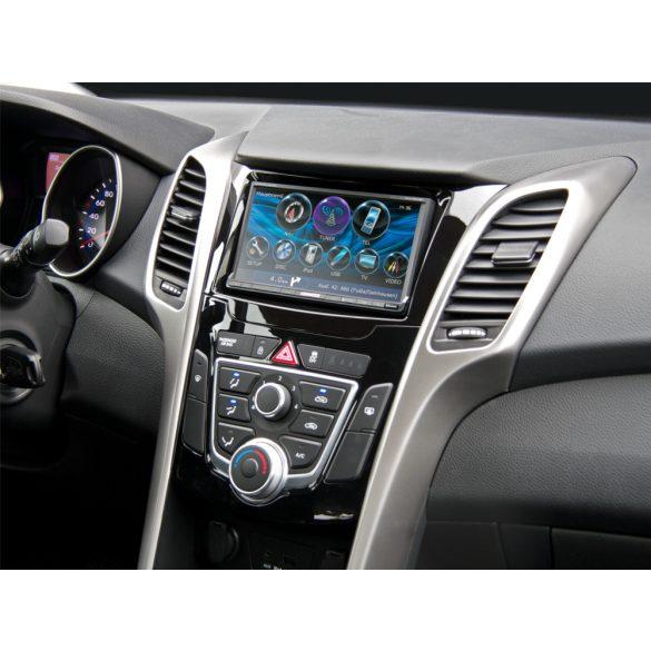 Hyundai i30 (GD) 2012.03-> dupla DIN autórádió beépítő keret 381143-32