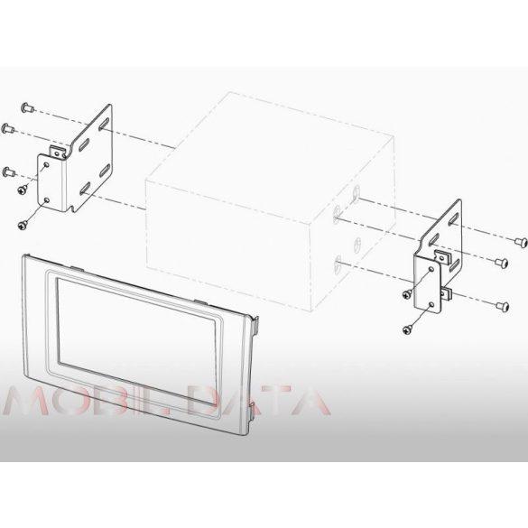 Iveco Daily IV/V 2006.05-> autórádió beépítő keret Dupla DIN 381162-01-1