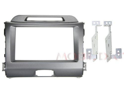 Kia Sportage III (SL) 2010.08-> dupla DIN rádió beépítő keret szürke 381178-28-2