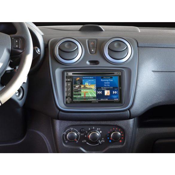 Dacia, Opel, Renault dupla DIN autórádió beszerelő keret 381250-14-1