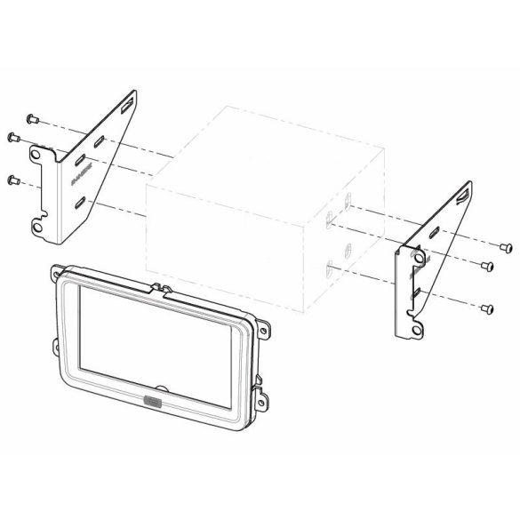VW, Seat, Skoda autórádió beépítő keret Dupla DIN 381320-30-1