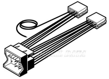 BMW - 1 ISO autórádió csatlakozó kábel 552142