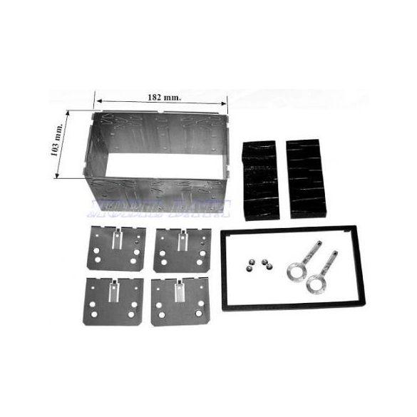 Univ. dupla DIN beszerelő keret dupla DIN készülékekhez 571969