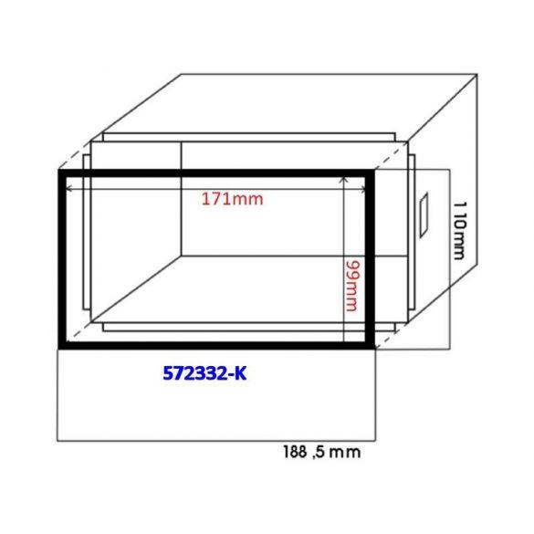 Keret a dupla DIN (100mm) autórádiókeretekhez kínai készülékekhez 572332-K
