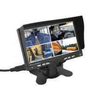 ABM univerzális 7\'\' TFT-LCD QUAD monitor (12/24V) audio bemenettel