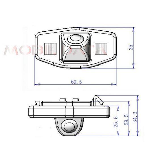 ASTK-1812 tolatókamera speciál HONDA Accord