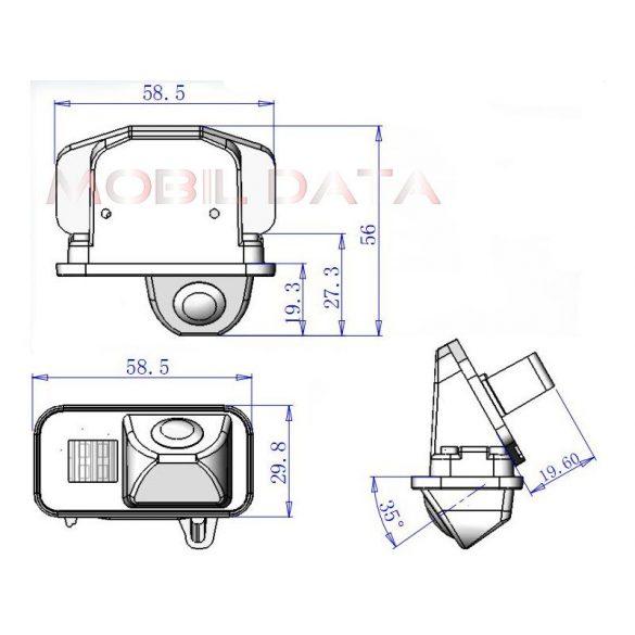 ASTK-1813  speciális tolatókamera TOYOTA Corolla