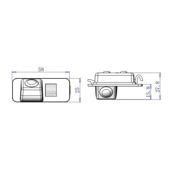 ASTK-1815 speciális tolatókamera FORD Mondeo Ghia-X