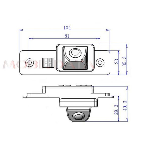 ASTK-1820 speciális tolatókamera BUICK Excelle