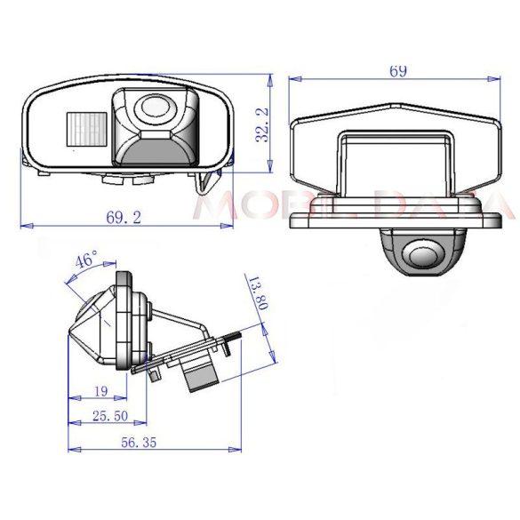 ASTK-1825 speciális tolatókamera HONDA CR-V