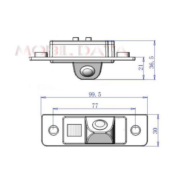 ASTK-1826 speciális tolatókamera HYUNDAI Elantra