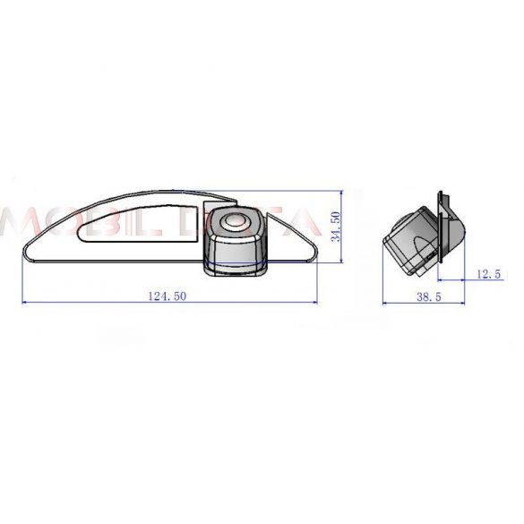 ASTK-1832 speciális tolatókamera HONDA Fit