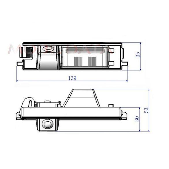 ASTK-1833 speciális tolatókamera TOYOTA RAV 4