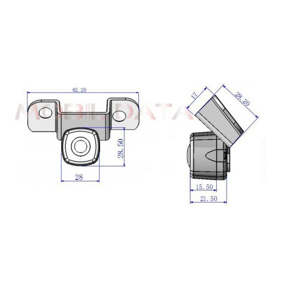 ASTK-1837 autóspecifikus tolatókamera TOYOTA Crown