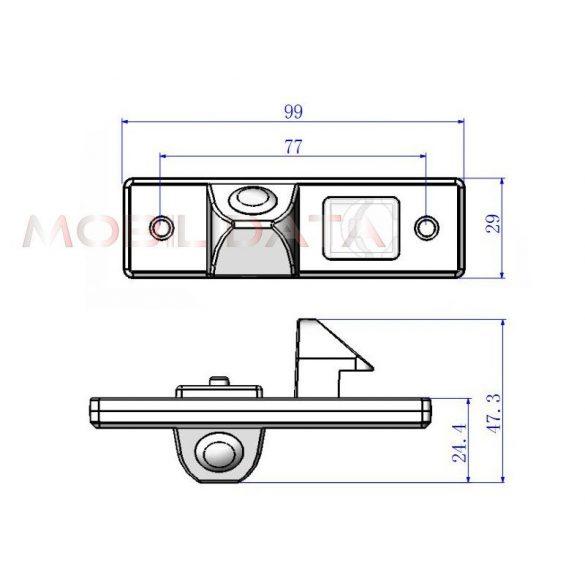 ASTK-1838 speciális tolatókamera CHEVROLET Captiva, Aveo, Epica, Cruse