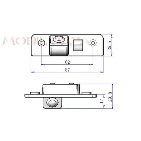 ASTK-1839 speciális tolatókamera SKODA
