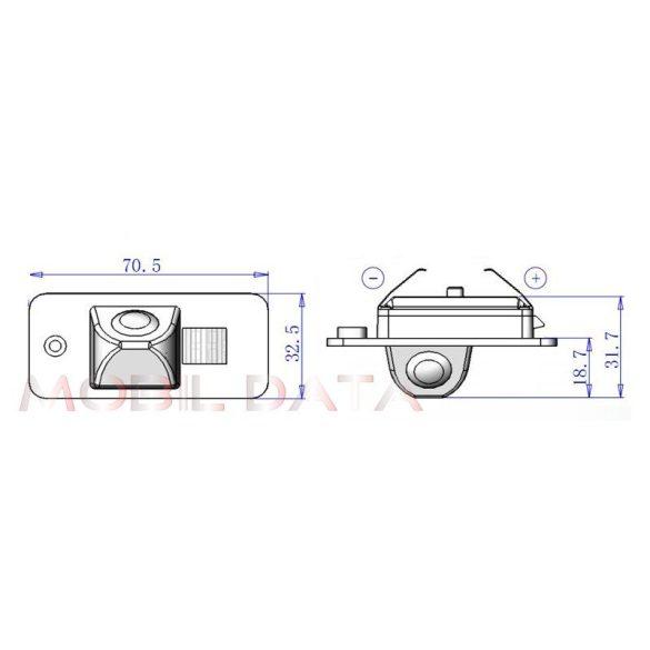 ASTK-1846 speciális tolatókamera AUDI A4, A6