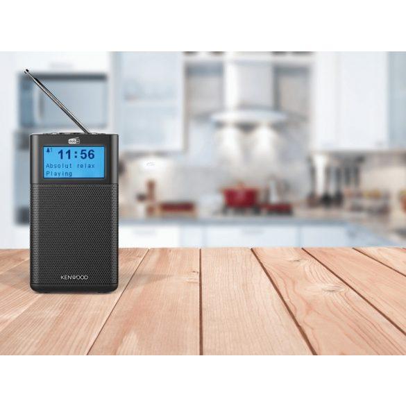 Kenwood CR-M10DAB-B hordozható Bluetooth lejátszó DAB+ és FM rádió tunerrel