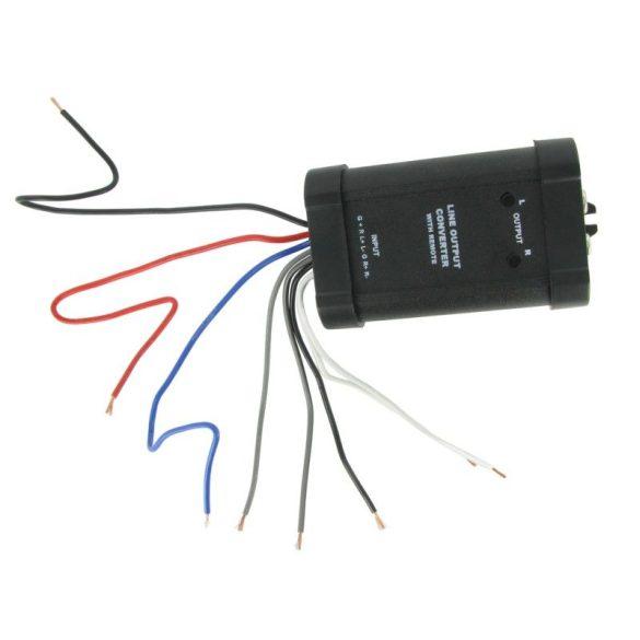Jelszint átalakító : hangszórószintből RCA jel, 2 csatornás Remote kimenettel CTLOC20