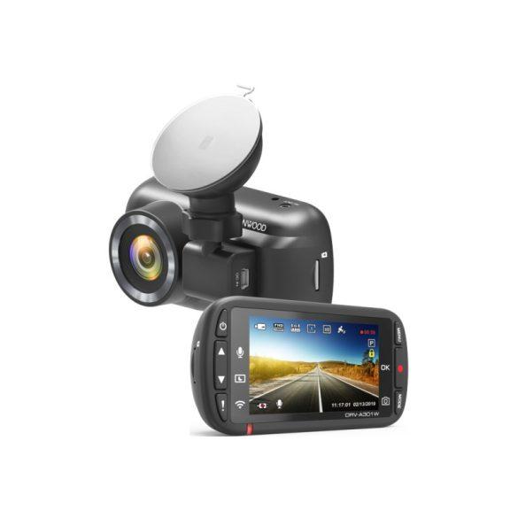 Kenwood DRV-A301W FullHD fedélzeti menetrögzítő kamera beépített WiFi és GPS-el