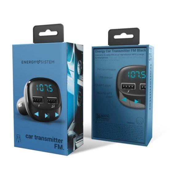 Energy FM transmitter Black autós MP3 átjátszó fekete