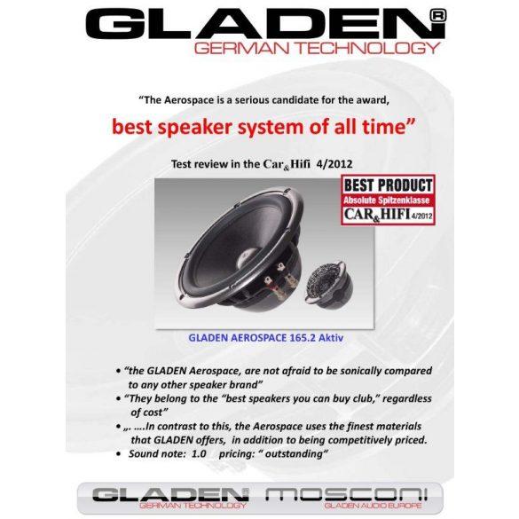 Gladen Aerospace 165.3 Full Aktív 3 utas Abszolút High End autóhifi hangszóró szett