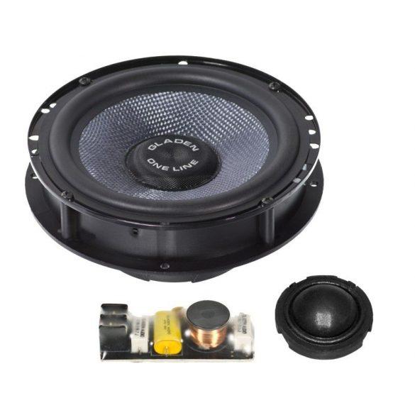 Gladen Audio ONE 165 A3-SQX két utas autóhifi hangszóró szett AUDI A3-8P autóba