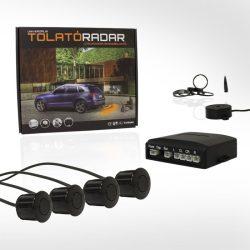 Hangszórós tolatóradar, 4 szenzorral - fekete színű szenzorokkal