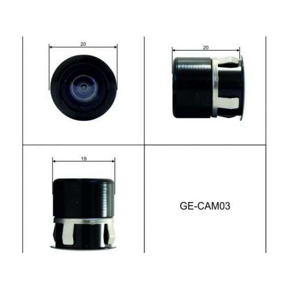 Befúrható kamera parkolósegédhez