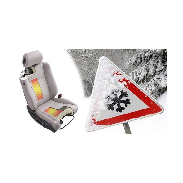 KIYO karbonszálas ülésfűtés 1 ülésre 2 fűtési fokozatú billenőkapcsolóval