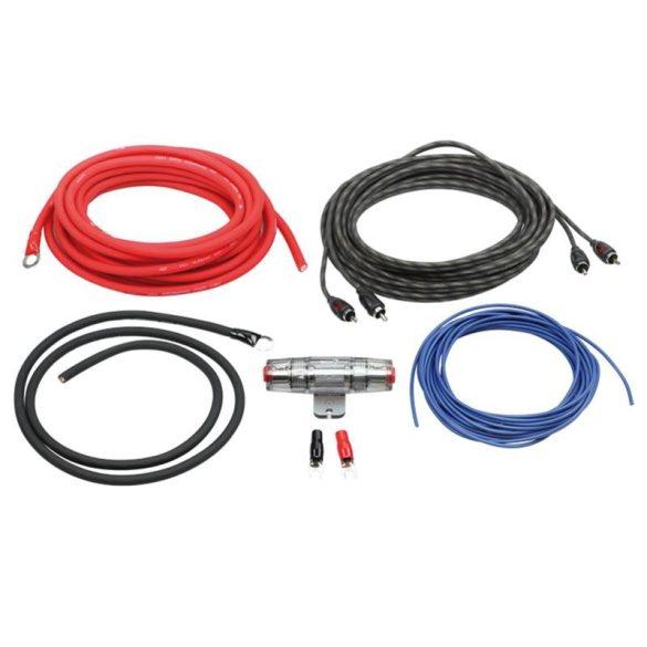 Autóhifi kábel készlet 10 mm2 erősítő bekötéshez LK 10