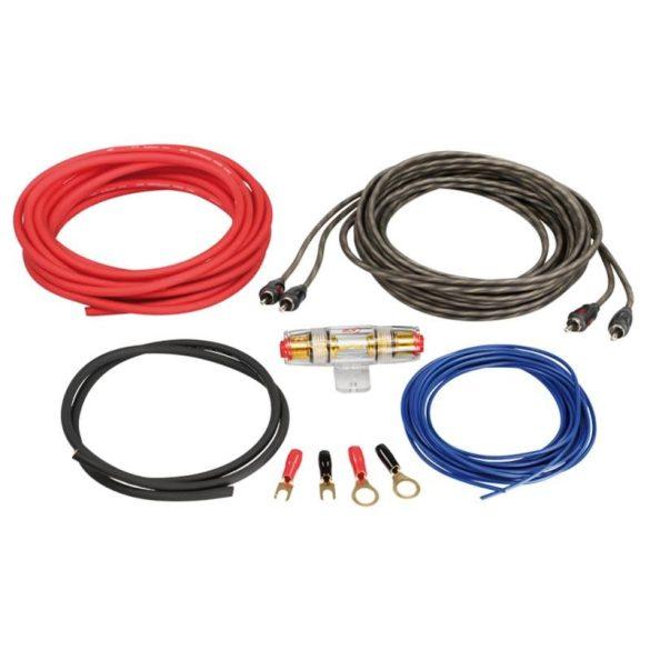 Autóhifi kábel készlet 6 mm2 erősítő bekötéshez LK 6