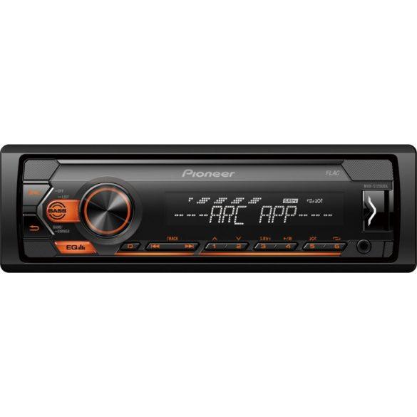 Pioneer MVH-S120UBA autórádió Előlapi USB, Aux-in bemenettel Android támogatással
