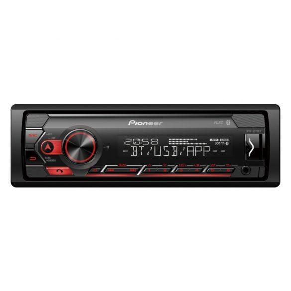 Pioneer MVH-S320BT autórádió RDS-tuner Bluetooth, USB és Aux-In