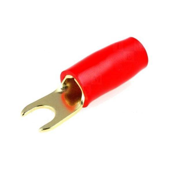 Villás saru aranyozott 04 mm2 piros VS04P