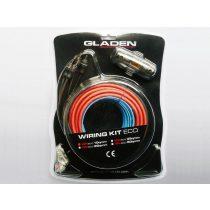 Autóhifi kábel készlet 10 mm² autóhifi erősítő bekötéshez Gladen Audio WK 10