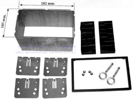 Univ. dupla DIN beszerelő keret dupla DIN készülékekhez 571968
